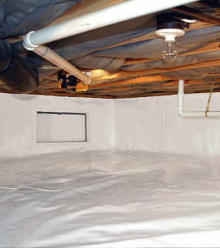 A complete crawl space repair system in Phillipsburg
