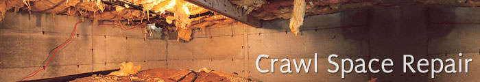 Crawl Space Repair in NJ & PA, including Hopatcong, Sparta & Easton.
