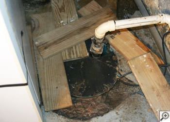 An ugly, clogged sump pump system in Hackettstown, New Jersey and Pennsylvania
