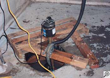 A Bangor sump pump system that failed and lead to a basement flood.