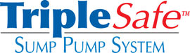 Sump pump system logo for our TripleSafe, available in areas like Ogdensburg