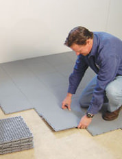 Installing a Waterproof Basement Sub Floor in Colerain