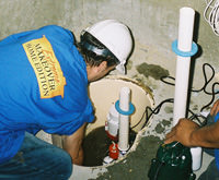 installing a sump pump and backup sump pump system in Westfall, NJ & PA