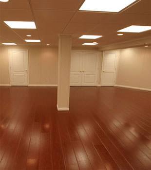 Rosewood faux wood basement flooring for finished basements in Easton