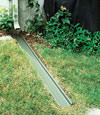 A recessed gutter drain extension installed in Mount Pocono, New Jersey and Pennsylvania