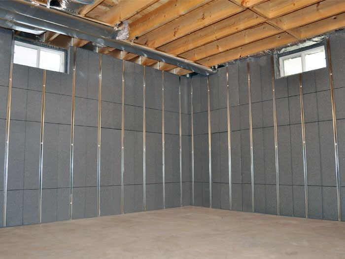Installed basement wall panels installed in Newton · Insulated ... & Basement To Beautiful Insulated Wall Panels | Inorganic Basement ...