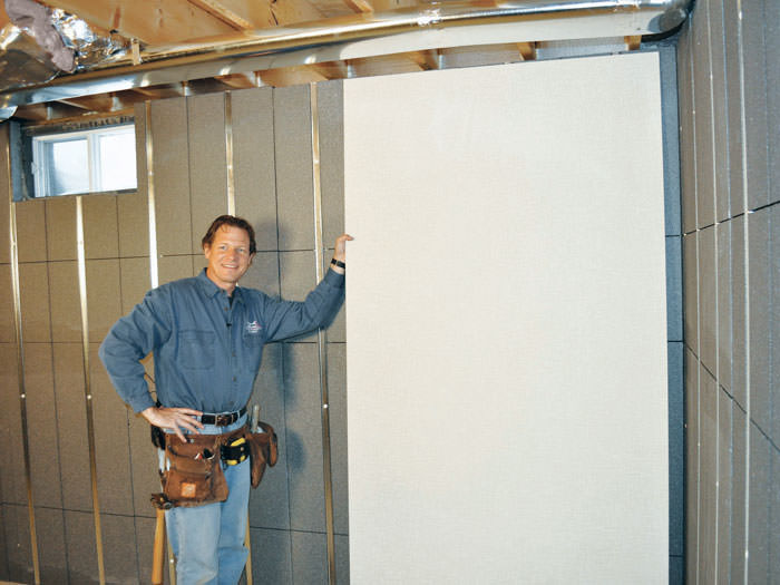 Beau ... Installing Wall Panels On Top Of Our Basement Wall Insulation In  Hackettstown ...