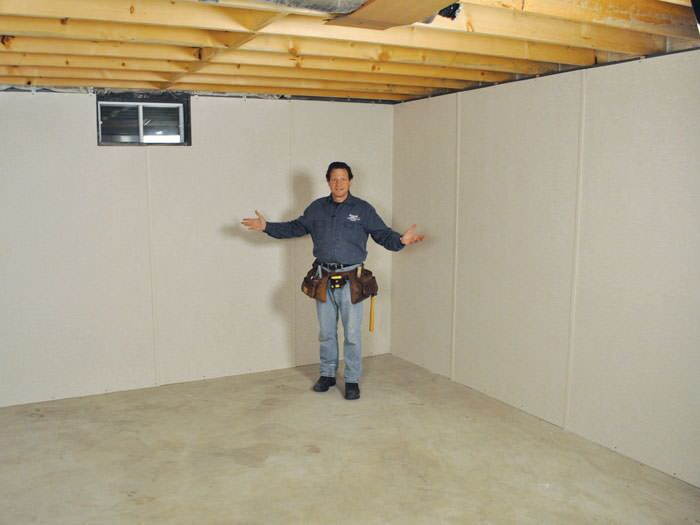 ... Hackettstown Basement Insulation Covered By EverLast™ Wall Paneling,  With SilverGlo™ Insulation Underneath