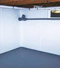 Plastic basement wall panels installed in a Hamilton, New Jersey and Pennsylvania home