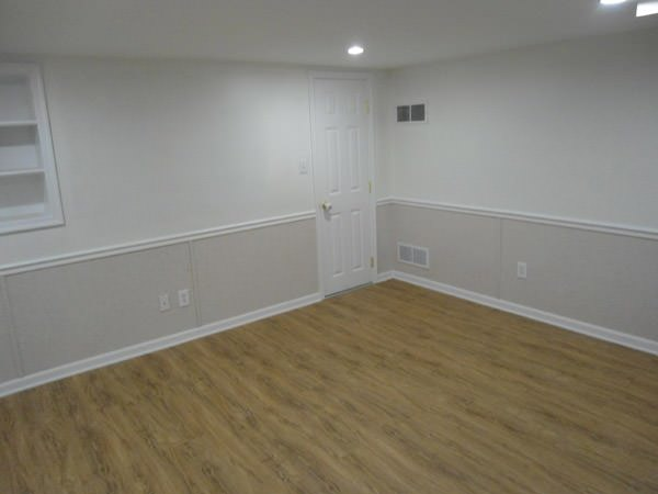 a bright white washable basement wall covering that does not adhere to the walls and resists mold & rot for Stillwater homeowners