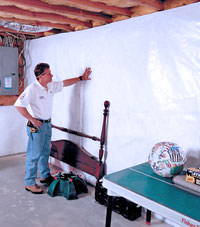 Plastic 20-mil vapor barrier for dirt basements, Hamilton, New Jersey and Pennsylvania installation