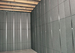 SilverGlo™ insulation and metal studs making up our Basement to Beautiful panels.  Installed in Phillipsburg.