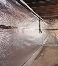 Radiant heat barrier and vapor barrier for finished basement walls in Hamilton, New Jersey and Pennsylvania
